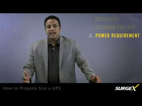 SurgeX How to Properly Size a UPS Battery Backup