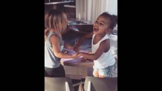 Adorable North West and Penelope Disick Sing SECRET Song and Play Together In Cute Video