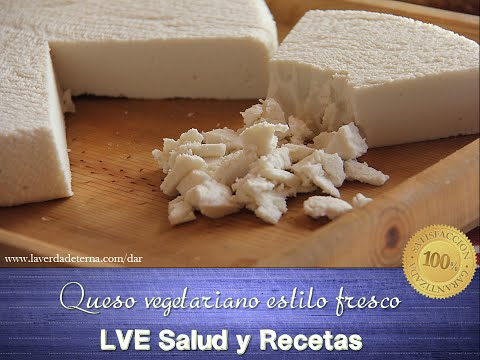 Queso vegetariano estilo fresco