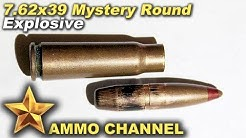 7.62x39 mystery round test firing - red tip - explosive