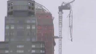 Construction Crane Collapses in Manhattan Hurricane Sandy