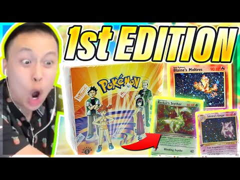 We Open My Vintage Box?! HUGE Chase Cards?! - 1st Edition Gym Heroes