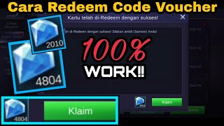 Tutorial Redeem Code Voucher Diamonds Mobile Legends Indonesia Youtube