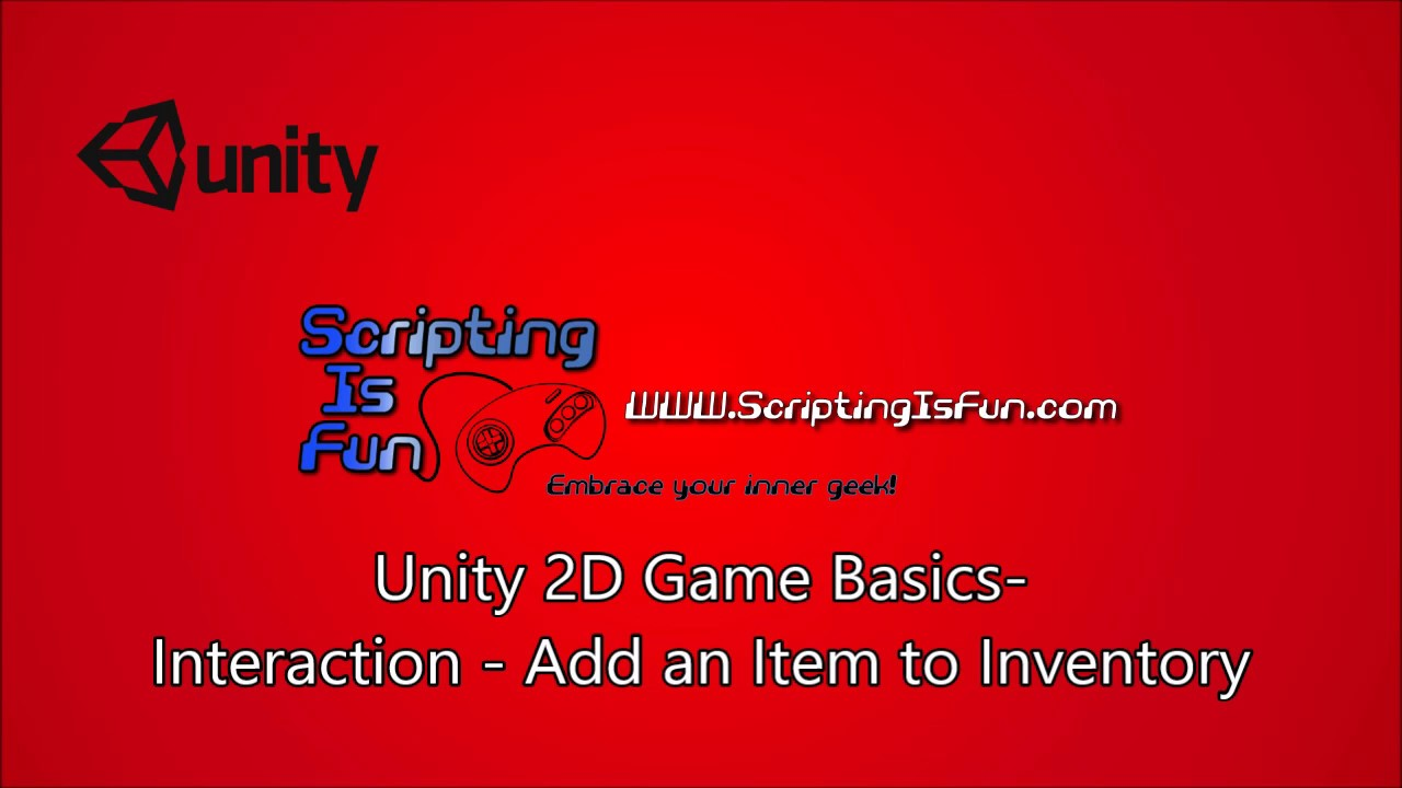 Unity 2D Game Basics - Adding an Item to Inventory