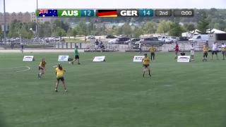 2018 World Jr. Ultimate Championships | Game 3 - Women: Austrailia vs Germany | Aug. 19