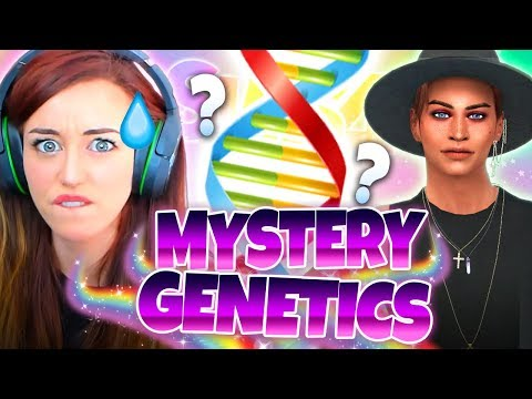 😮NEW CHARACTERS!?😮- Mystery Genetics Sims 4 CAS Challenge!
