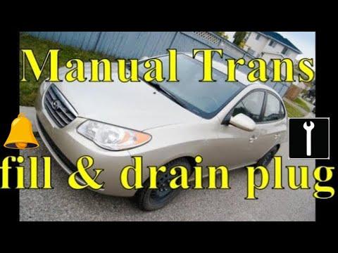 hyundai elantra manual transmission fill