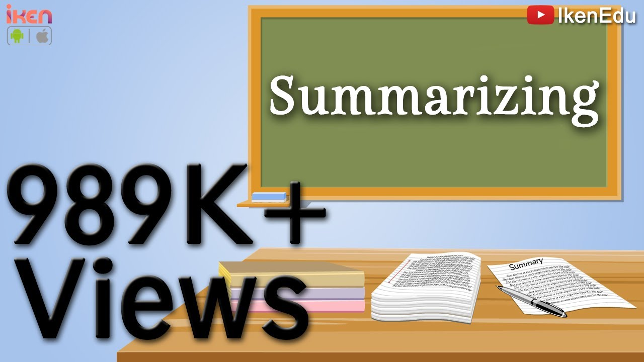 Summary Writing  Learn How to Write Summary  iKen  iKen Edu  iKen App