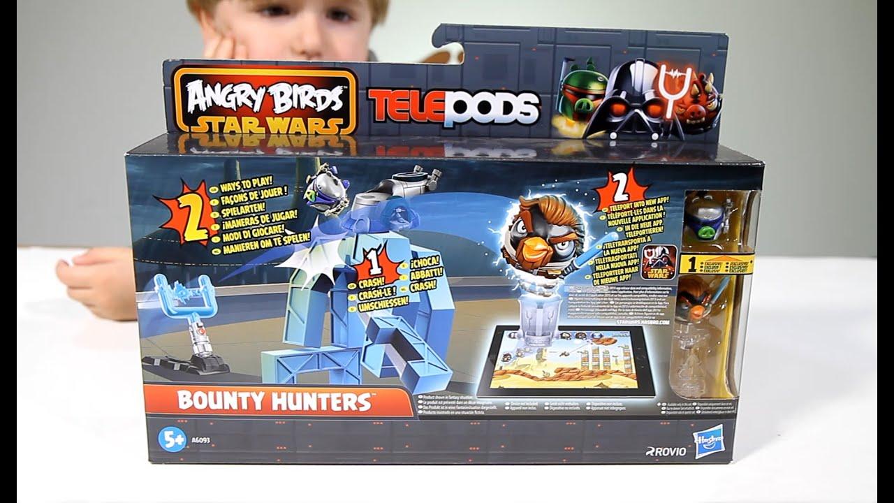 Angry Birds Star Wars II TelePods BOUNTY HUNTERS - YouTube  Angry Birds Sta...