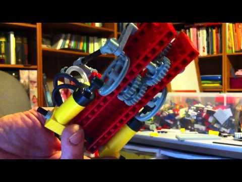 2-cylinder Lego pneumatic motor