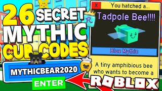 ALL 26 SECRET MYṪHIC CUB BEE CODES IN BEE SWARM SIMULATOR! *SUPER OP* Roblox
