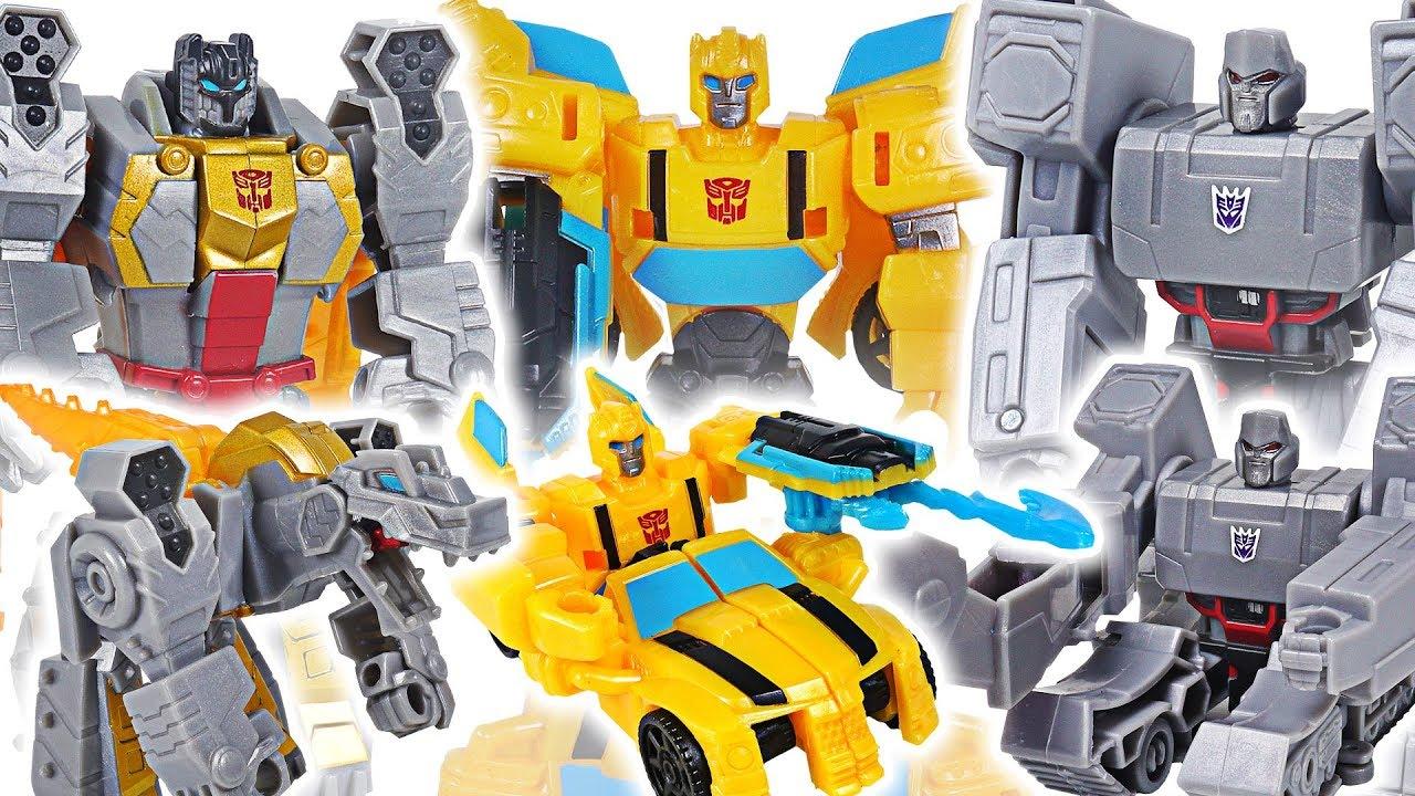 Transformers Cyberverse scout class Bumblebee, Grimlock! Defeat Megatron, dinosaur! #DuDuPopTOY