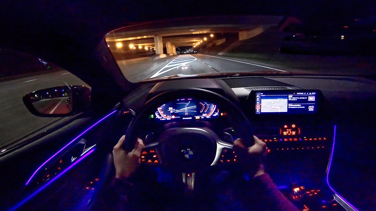 Bmw 8 Series Coupe M850i Night Drive Pov With Ambient