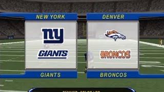 Madden NFL 2002 - New York Giants vs. Denver Broncos (Full Game)