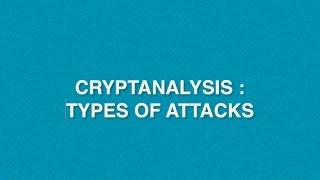 What Is Cryptanalysis | Types Of Cryptanalysis Attacks On Cryptography
