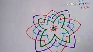 How to draw hridaya kamalam kolam with meaning
