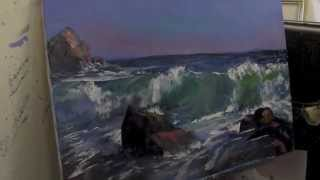 Научиться рисовать море, художник Сахаров, уроки живописи