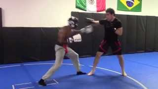 Boxer vs Mixed Martial Artist in Boxing Sparring match Professor X