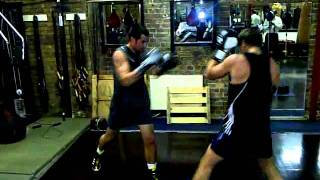 Andy and Jake practice - Boodles Boxing Ball 2011