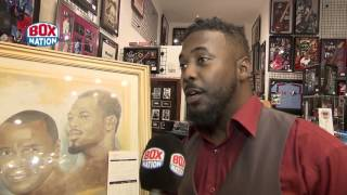 Artist John Barge III talks us through his boxing artwork