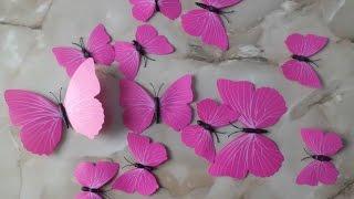 Наклейки на стену 3D бабочки с AliExpress(, 2016-01-24T20:05:58.000Z)