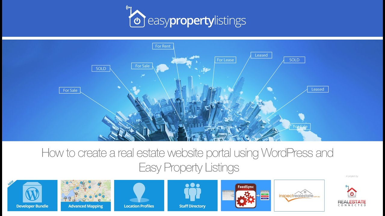 How to create a real estate website or portal with easy Build easy website