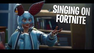 SINGING THEME SONGS on Fortnite!