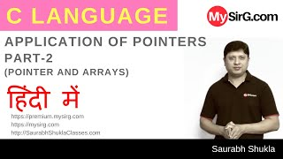 Lecture 15 Application of Pointers in C Part 2 Hindi