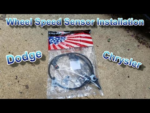 How to install a wheel speed sensor on Dodge Challenger Charger Chrysler 300