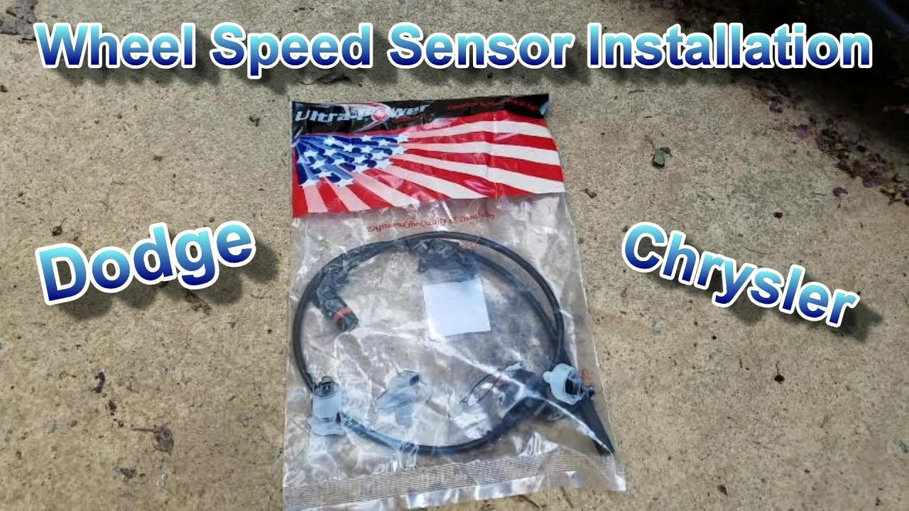 hight resolution of how to install a wheel speed sensor on dodge challenger charger chrysler 300