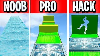 NOOB vs PRO vs HACKER Deathrun slide... (Fortnite criativo)
