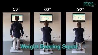 Weight Bearing Squat - WBS protocol | PhysioSensing
