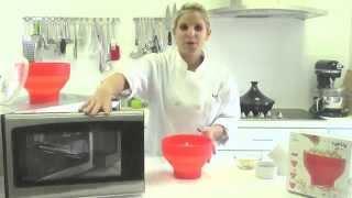Lekue popcorn popper to make homemade microwave popcorn
