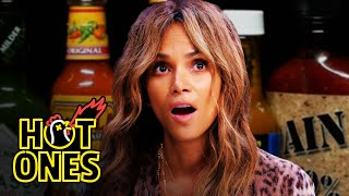 Halle Berry Refuses to Lose to Spicy Wings | Hot Ones