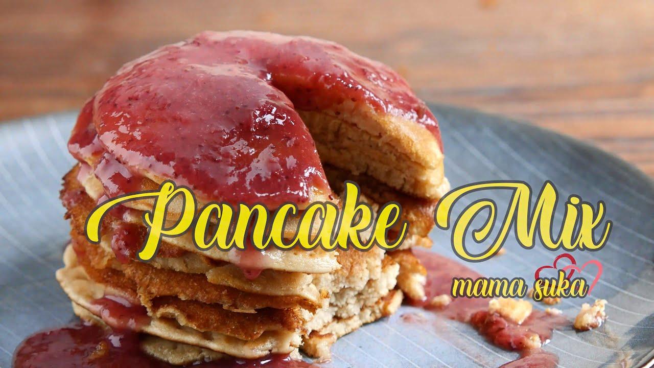 Mencoba Buat Pancake Mix dari Mama Suka