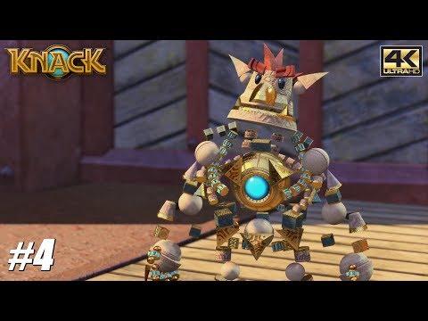 Knack - PS4 Pro Gameplay Playthrough 4K 2160p - PART 4
