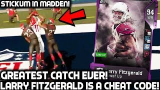 GREATEST CATCH EVER! LARRY FITZGERALD IS A CHEAT CODE! Madden 19 Ultimate Team