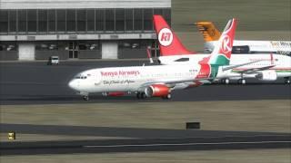 Kenya Airways Take Off Nairobi