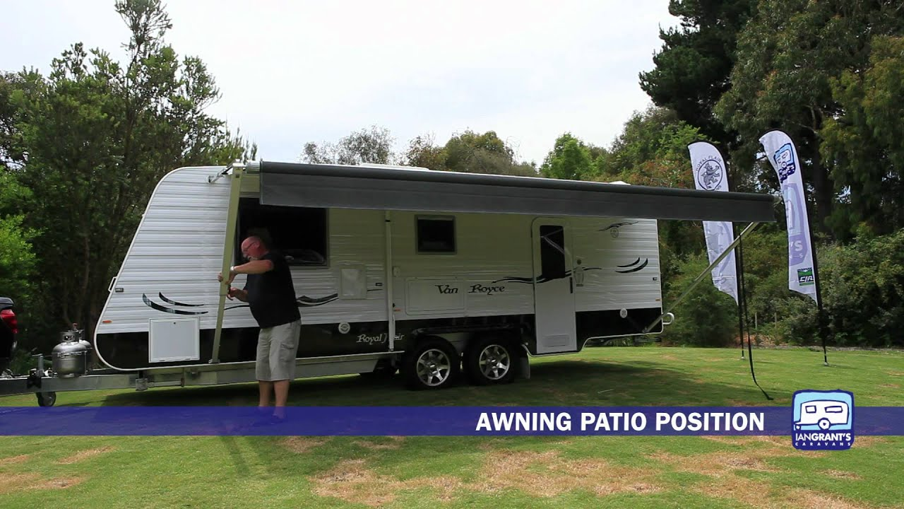 Setting Up A Royal Flair Caravan Roll Out Awning Ian Grant s