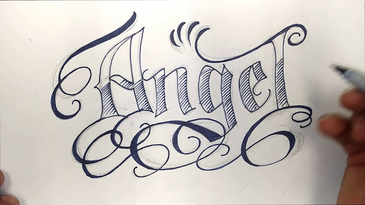 Positive Art Series Angel Name Design With Sharpie Markers Youtube