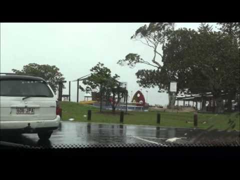 Extreme weather event 27th Jan, 2013 - Cleveland Point, Brisbane, Queensland.