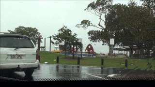 Extreme weather event 27th Jan, 2013 - Cleveland Point, Brisbane, Queensland.