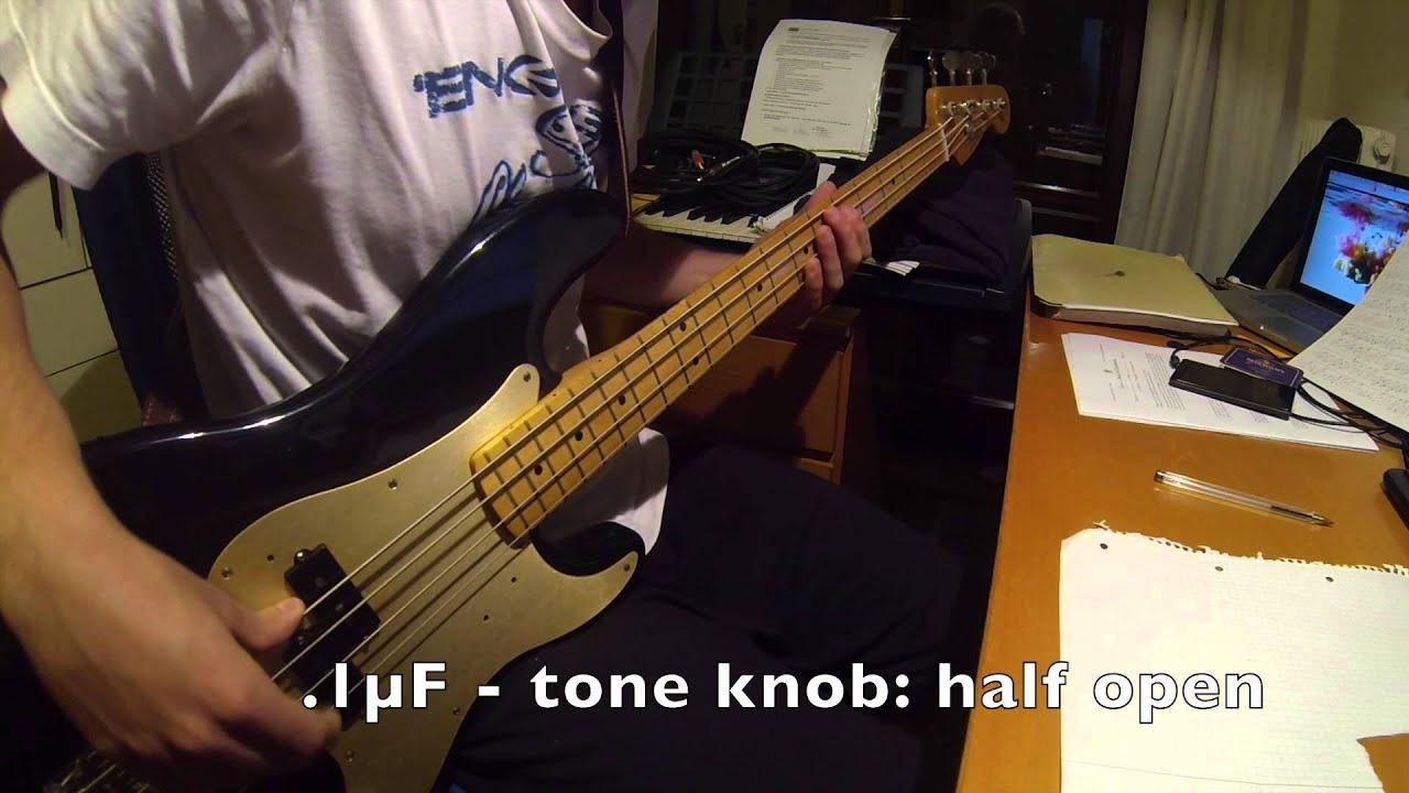 Hd Precision Bass 1uf Vs 047uf Capacitor Youtube Guitar Wiring Tone Cap