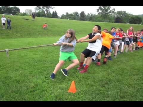 Tug of war matches at Lanesborough Elementary School Field Day 2013