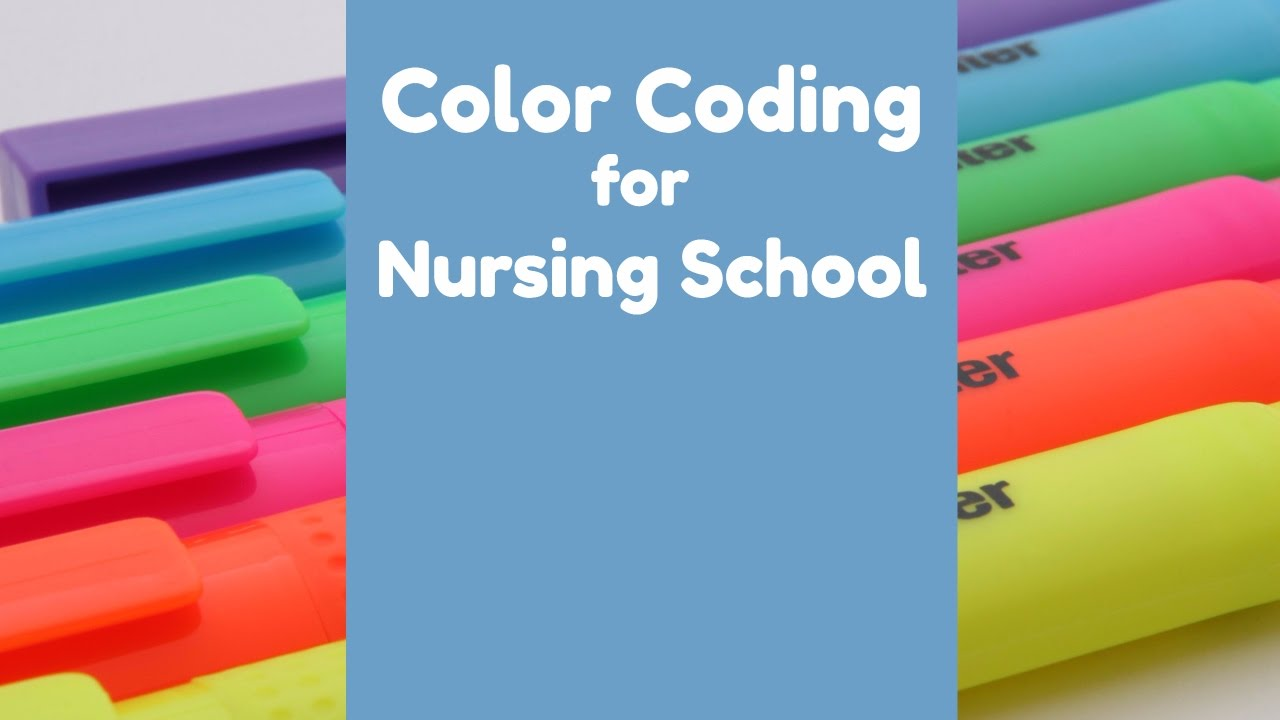 How To Stay Organized In Nursing School Color Coding