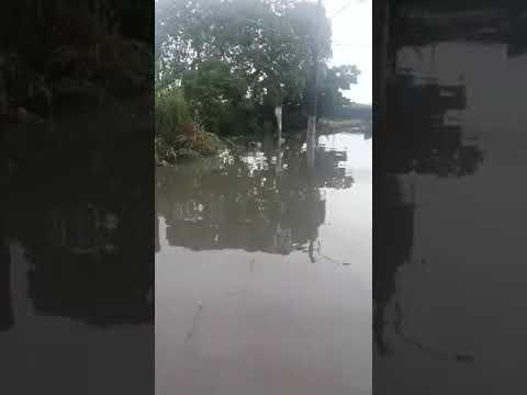 Prefeitura de Parnamirim não faz obra, chuva alaga rua e água invade casas