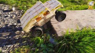 Hummer H1, машина из спичек своими руками! Часть 2: Первый выезд | Match Machine first run