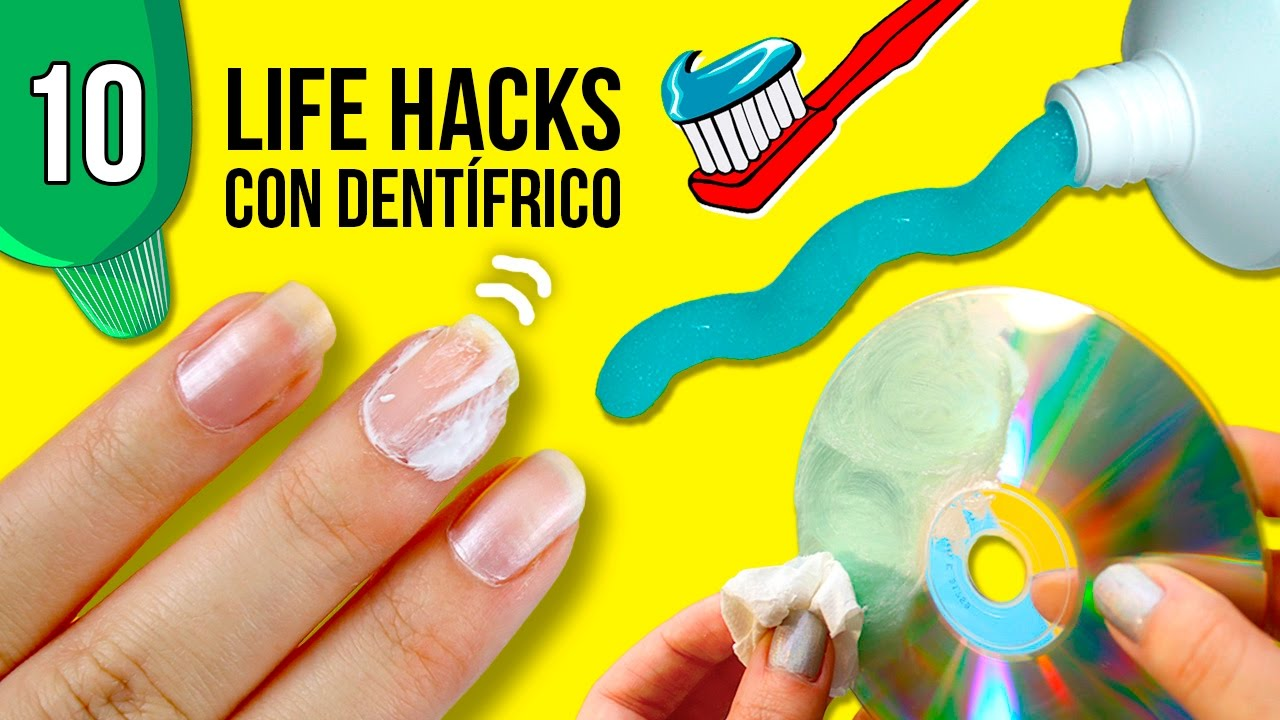 10 trucos o life hacks con pasta de dientes diy t doovi. Black Bedroom Furniture Sets. Home Design Ideas