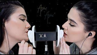 ASMR TWIN 3DIO: UP CLOSE LIPGLOSS + MOUTH SOUNDS - Naiane