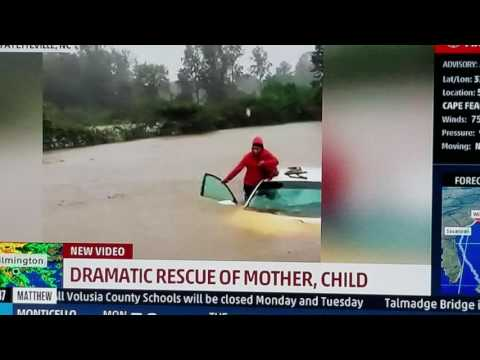 Dramatic Rescue, Fayetteville, NC, Hurricane Matthew